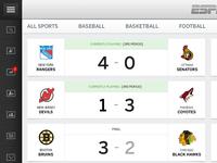 ESPN Live - Scoreboard