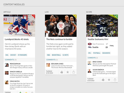 ESPN Live - Tile Variations espn sports entertainment cards tiles media