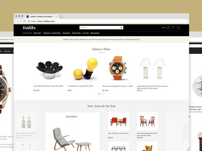 1stdibs Ecommerce Experience rare antiques shopping luxury 1stdibs ecommerce