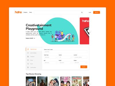 HAHO Creativetainment Homepage