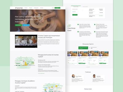 Avantee Capital Homepage Web Design