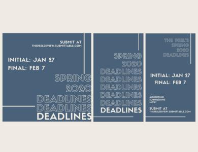 Spring 2020 Deadlines social media design social media poster design poster advertising