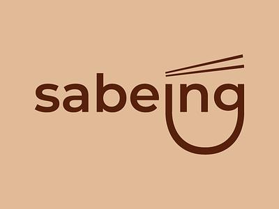 Logo Redesign for Sabeing graphic design minimal minimalist bowl chopstick local restaurant food logo asian noodle branding design