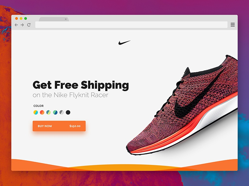 Landing Page - #DailyUI #003 ecommerce daily ui