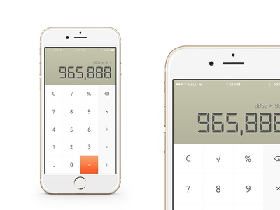 Calculator - #DailyUI #004 daily ui