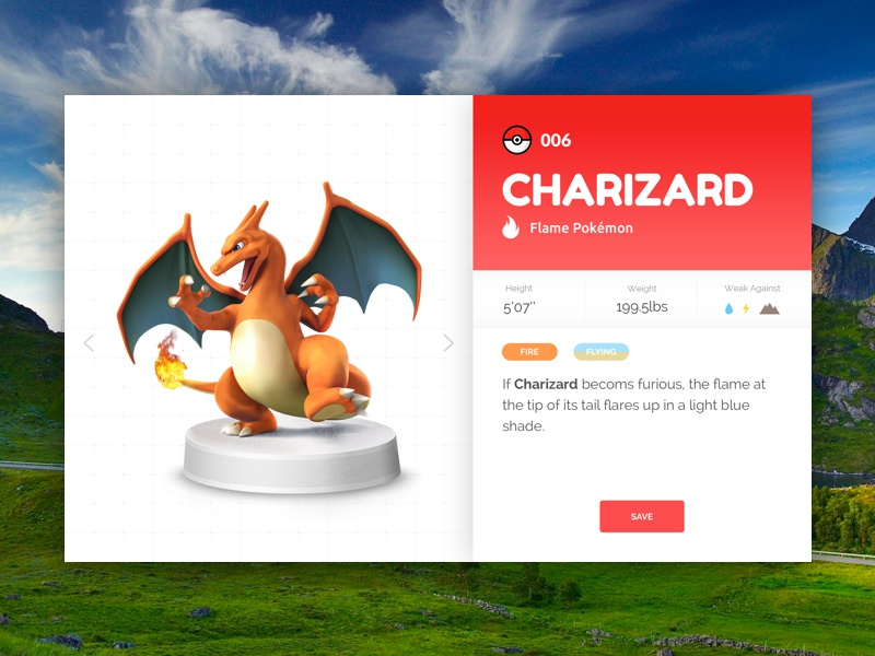 User Profile -#DailyUI #006 pokedex daily ui