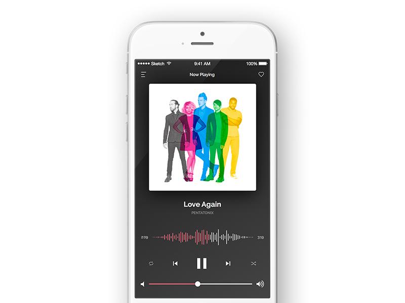 Music Player - #DailyUI #009 music player daily ui