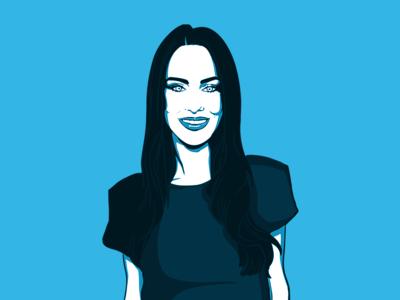 Jessica Lowndes - Pop Art 90210 illustration pop art