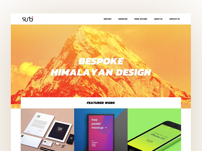 Design Agency Home Page design agency masonry bold