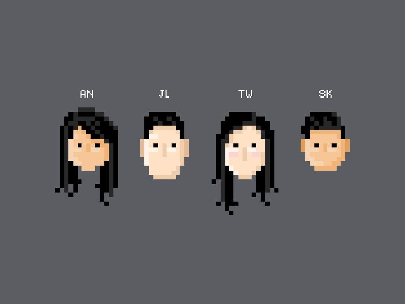 F4 - Pixel buddies game retro art pixel