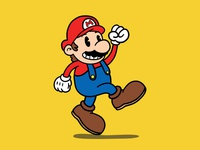 It's-a me, Mario! mario videogame illustration rubber hose