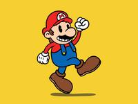 It's-a me, Mario! mario videogame illustration rubber hose