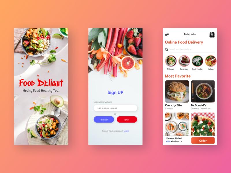 food app it webdesign travel vector login branding web design ui pro