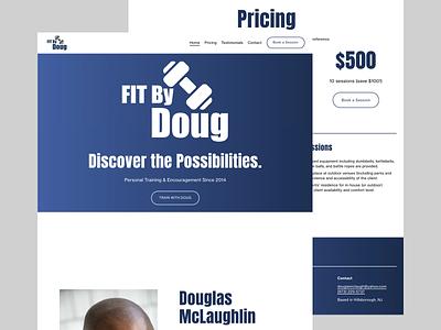 Fitness Website Landing Page website design website landing page dailyuichallenge dailyui