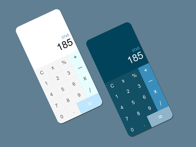 Calculator UI calculator ui calculator dailyuichallenge dailyui 004 dailyui light mode dark mode