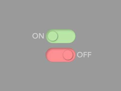 On/Off Switch daily ui challange daily ui challenge off switch on switch switch switch button daily ui 015 daily ui ui design dailyuichallenge dailyui