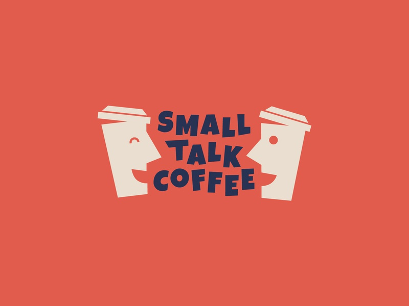 Let's go small talk coffee brand identity gif graphic design small talk illustraion coffee cup coffee cafe branding