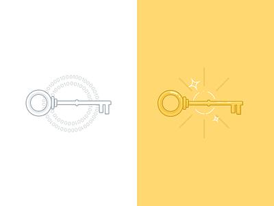 Data Encription Keys illustration ui interface.
