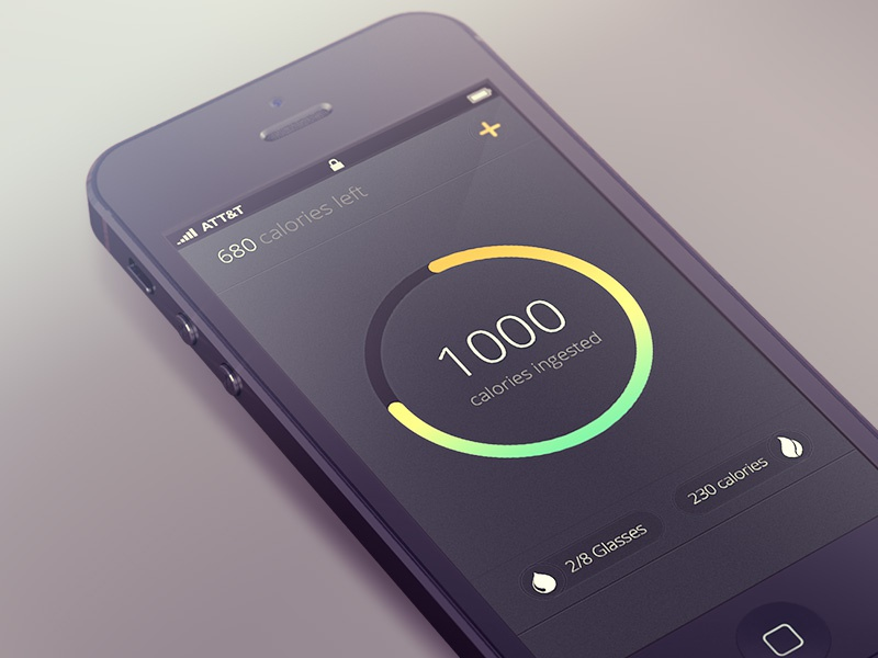Calorie Counter (WIP) calorie food tracker app ios iphone iphone 5 simple calories counter