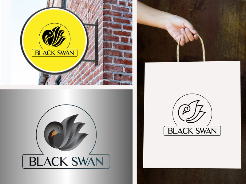 Black swan logo swan logo swan logo logo design creative logo business logo business logo design branding design brand design mordern logo branding brand identity