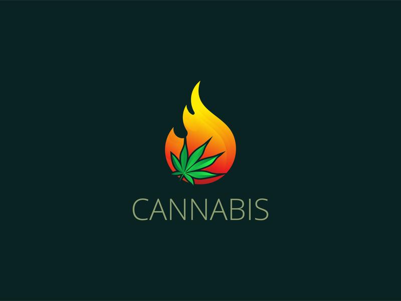 Cannabis logo illustration business logo design creative logo business logo logo logo design