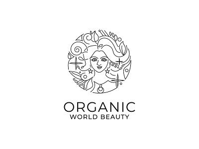 ''Organic World Beauty'' Feminine Logo brand identity minimal logo minimal feminine logo design feminine logos feminine logo feminine line art illustration line art logo line art logoideas logomarks logomark logoicon logodesigner logodesigns logo design logotype logos logo