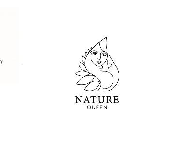 ''Nature Queen'' feminine Logo brand identity minimalist logo design minimal logo feminine logos feminine feminine logo line artwork line drawing line icons line icon line art logo lineart logosymbol logoicon logo designer logo designs logo design logotype logos logo