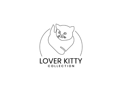 One line art ''Love icon + Cat icon Logo concept logomark line icon line artwork line art logo one line drawing one line art line art minimal logo minimal logos minimal logo design minimal logodesigns brand design logodesigner branding brand identity logo design logotype logos logo