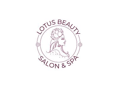 Line art feminine logo ''Lotus Beauty Salon & Spa Logo'' salon logo beauty logo feminine logo design feminine logos feminine logo line icon linework line art logo line art minimal logo design minimal logos minimal logo logodesigns logodesigner branding brand identity logo design logotype logos logo