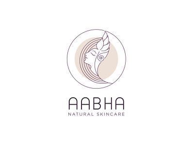 Line Art Feminine Logo, Aabha Skin Care monoline minimal logos minimal logo design minimal graphic design beauty logo feminine logo design feminine logo feminine design feminine line art feminine logo line art logo line art logodesigner branding brand identity logo design logotype logos logo
