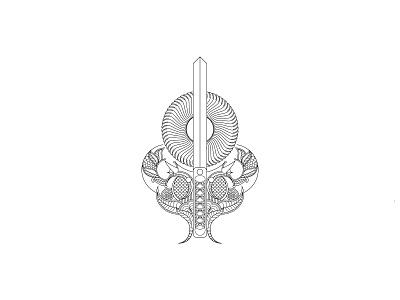 Line art, Sword + Sun line illustration. vector minimalist design minimal design minimalist minimal vector mandala sun sword design illustration line illustration line art illustration line art logodesigner branding brand identity logo design logotype logos logo