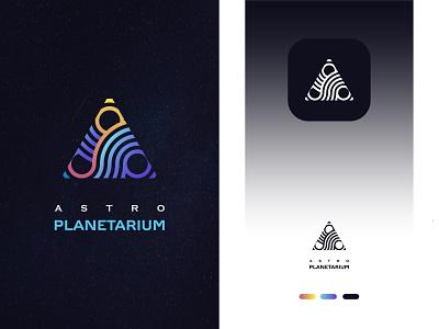 Letter A + Planetarium logo icon, Modern minimal logo design planet logo organization logo space logo modern logo design unique modern minimal minimalist minimal modern logo modern modern minimal logo design logodesigner branding brand identity logo design logotype logos logo