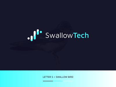 Letter S + Swallow Bird  Modern Minimal Logo Concept unique gradient logo gradient minimal logo modern minimalist modern modern logo technology logo icon logo mark brand designer logodesigner branding brand identity logo design logotype logos logo