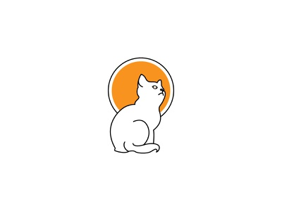 Line Art, Line art logo, Cat + Sun Icon creative logo minimalist logo minimal logos brand brand design logodesigns minimal logo design line icon minimal cat logo cat line art branding brand identity logo