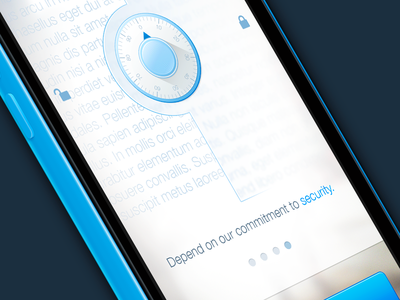 Concept For Sync (PSD) ios mobile app welcome liferay ui ux freebie psd