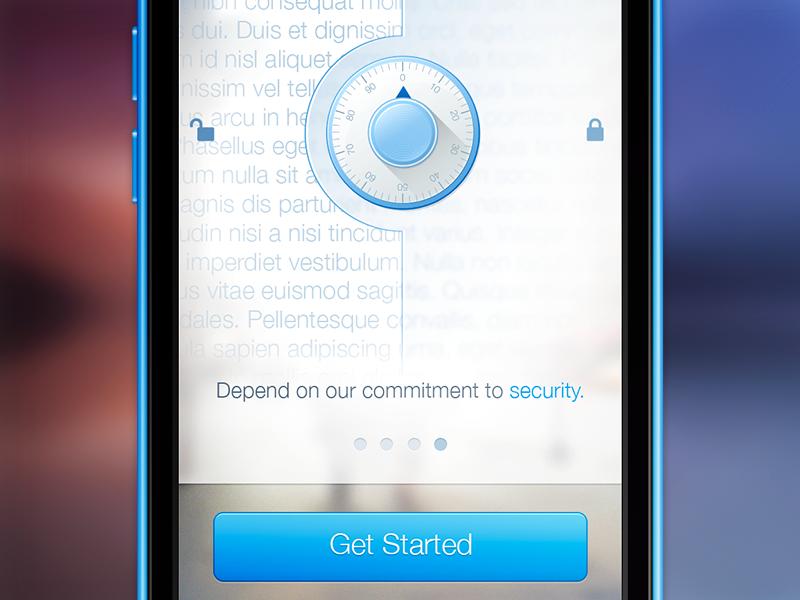 Concept For Sync (PSD) ios mobile app welcome liferay ui ux freebie psd