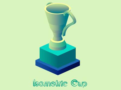 Isometric Cup league cup isometric cup isometry isometric design isometric illustration isometric icons isometric isometric art minimal ui vector euclidesdry design graphic illustration clean layout