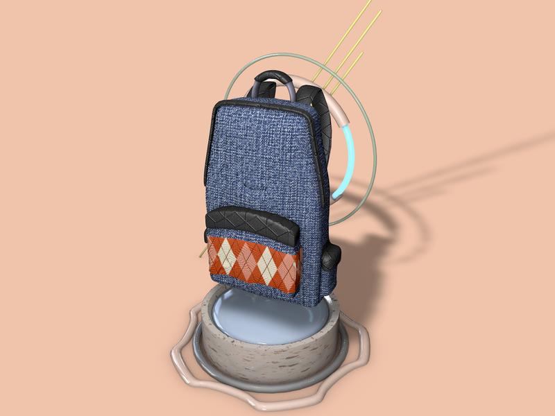 A Smooth PackBack 3D packback3d packback bagpack3d bagpack graphic minimal ux cinema4d 3d art 3d artist design euclidesdry 3d