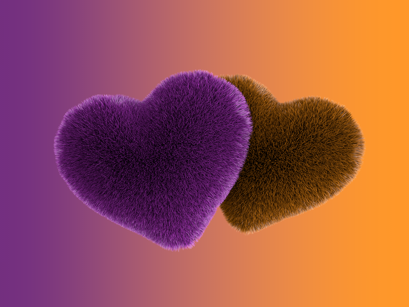 Hairy heart 3D illustration art 3dillustration heart 3d heart graphic clean layout minimal cinema4d design euclidesdry illustration 3d artist 3d art 3d