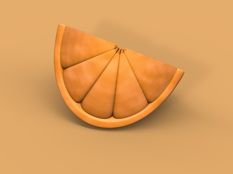 Artistic Slice of Orange 3D minimal illustration cinema4d 3d artist 3d art 3d clean layout graphic euclidesdry design