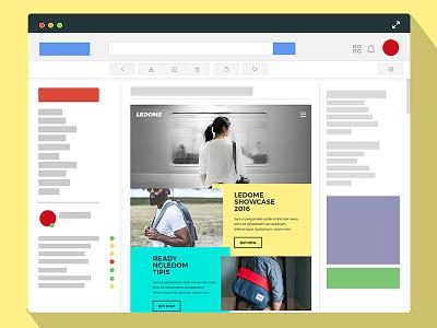 newsletter concept minimal sharp mail email flat newsletter