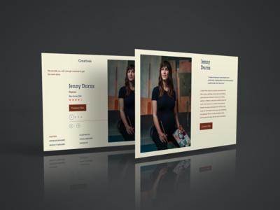 Creative Profile Page covid-19 webdesign landingpage webapp photoshop ui design typography profile profile page ux
