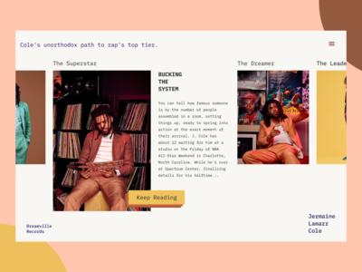 Celebrity Page magazine button landing page ux webdesign typography layout exploration layoutdesign