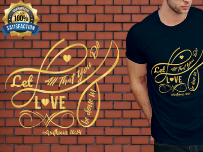 Stylish Typography T Shirt design with Christian Bible Sayings
