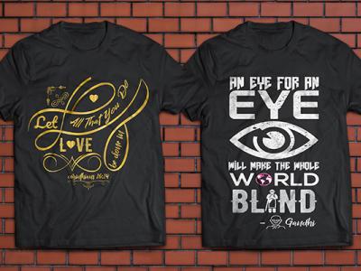 Typography Bible Scriptures/Quote T Shirt Design