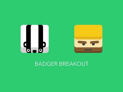 Badger Breakout - iOS game ios ipod iphone ipad appstore icon app game apple app design flat design flat ui