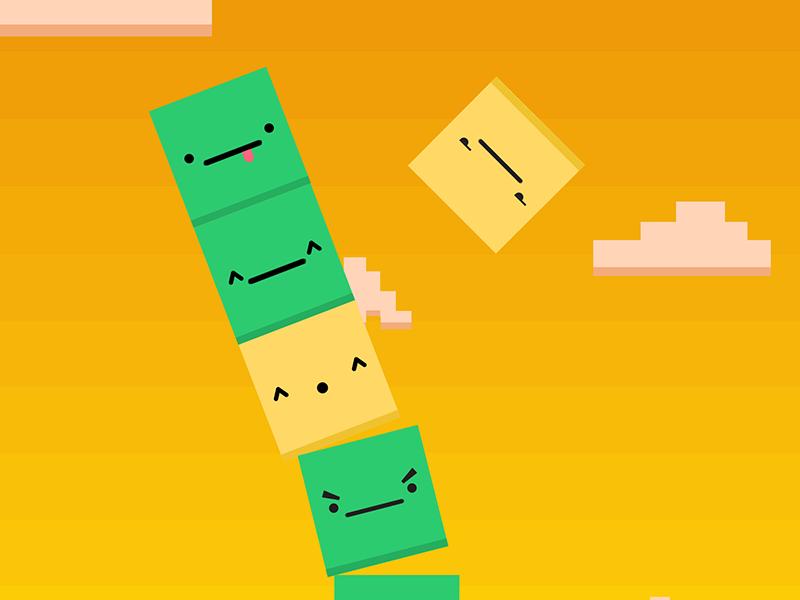 Tower Tap - iOS game game app design ipad flat ui sunset ios iphone ipod appstore app faces square