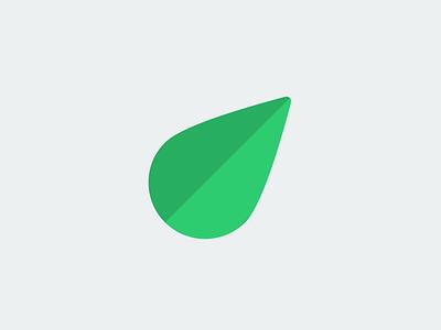Leaf logo shade green shadow illustration flat icon brand ui design logo