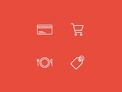 Bank app icons ios brand stroke flat app design bank sketch ui icons