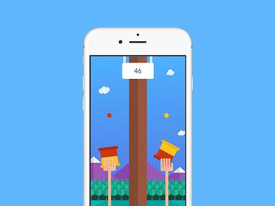 Berry 2 Berry - iOS Game universal ui swift iphone6 hand trees sky sketch flat game ios